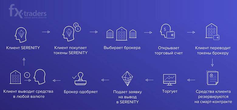 Схема  работы платформы SERENITY FINANCIAL